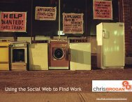 Using the Social Web  to Find Work - Chris Brogan