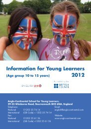 Young Learners Student Guide ... - Anglo-Continental