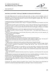 INFORMATIVA SULLA PRIVACY - OmniBus Engineering SA