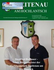 Gemeindeinformation - September 2009 - Breitenau am Hochlantsch