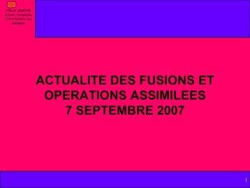 AVIS CU CNC 2007-D DU 15 JUIN 2007 - Ordre des experts ...