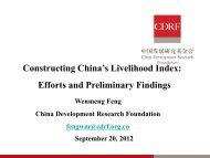 Constructing China's Livelihood Index: Efforts and preliminary findings