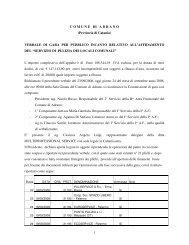 VERBALE DI GARA PER PUBBLICO INCANTO RELATIVO ALL ...