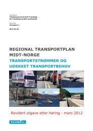 RTP Midt-Norge Rapport Transportstrømmer og udekket ...