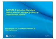 CaSToRC: Training and Educational Opportunities for ... - LinkSCEEM