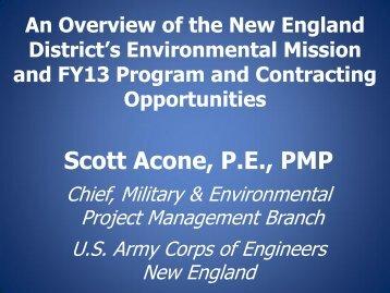 Scott Acone's Presentation – Part 1 - Environmental Business ...