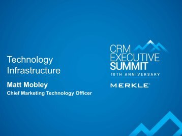Technology Infrastructure - Merkle