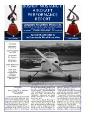 bushby mustang ii aircraft performance report - CAFE Foundation