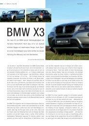 Der neue X3 von BMW vereint Geländegängigkeit ... - Bild-Text-Ton