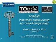 TOBCAT - Industriële toepassingen van object categorisatie - Vision ...