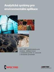 Měřící systémy pro životní prostředí. - SPECTRO CS