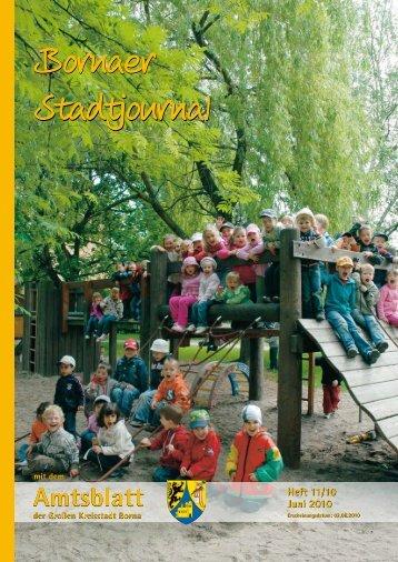 Amtsblatt der Großen Kreisstadt Borna 11/10 - Druckhaus Borna