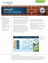 UtilityIQ® Firmware Upgrader - Silver Spring Networks