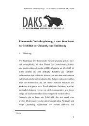 Kommunale Verkehrsplanung - DAKS eV
