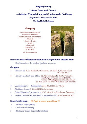 Vision Quest und andere Angebote 2010.pdf - N.E.W.-Institut ...