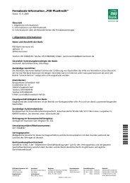 """Fernabsatz-Information """"PSD PlusKredit"""" - PSD Bank Hannover eG"""