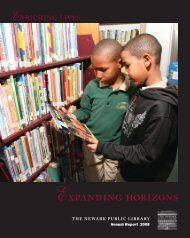 Annual Report for 2008 - Newark Public Library