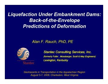 Liquefaction Under Embankment Dams