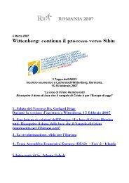 Wittenberg: continua il processo verso Sibiu - InternEtica