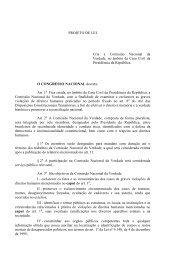 PROJETO DE LEI Cria a Comissão Nacional da Verdade ... - IPPDH