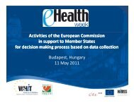 Activities of the European Commission in support to Member States ...