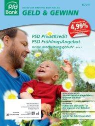 geld & gewinn 1/2011 - PSD Bank Kiel eG