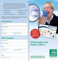 Weitersagen und Prämie sichern. - PSD Bank Hannover eG