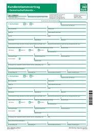 Kundenstammvertrag - Gemeinschaftskonto - PSD Bank Hannover eG