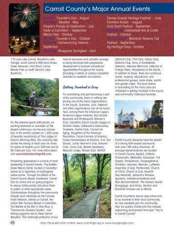 Carroll County's Major Annual Events - Buy Georgia