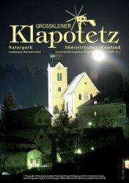 Klapotetz - 28. Jahrgang - Dezember 2009 - Nr. 4 (pdf