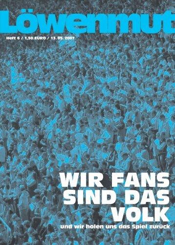 WIR FANS SIND DAS VOLK - das Fanzine