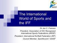ARISF Presentation - IFF