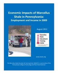 Economic Impacts of Marcellus Shale in Pennsylvania - Penn State ...