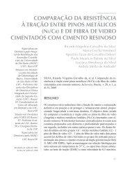 comparação da resistência à tração entre pinos metálicos - USC
