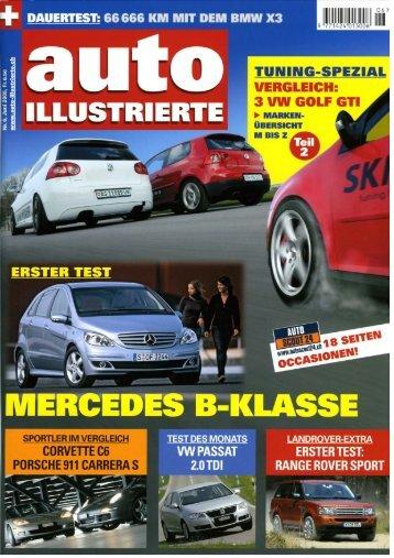 VW Golf 5 GTI 147(200)->176(240) Auto Illustrierte, Heft 6