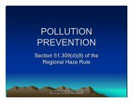 POLLUTION PREVENTION - Division of Air Quality