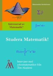 Intresserad av Matematik? - Skolresurs.fi