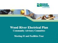 Wood River Electrical Plan - Idaho Power