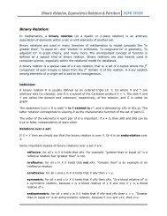 Binary Relation, Equivalence Relation & Partition ASMI SHAH