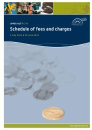 Schedule of Fees and Charges - Upper Hutt City Council