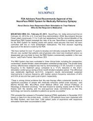 FDA Advisory Panel Recommends Approval of the NeuroPace RNS ...