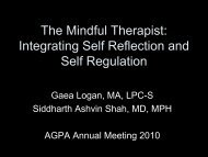 The Mindful Therapist: Integrating Self Reflection and Self Regulation