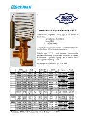Alco-termostatické expanzní ventily typu T