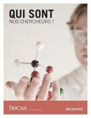 Consultez l'annuaire des chercheurs (PDF). - IRCM