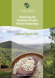 AATF 2005 annual report - African Agricultural Technology Foundation