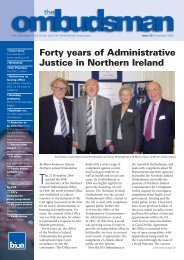 Forty years of Administrative Justice in Northern Ireland