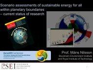 Måns Nilsson Stockholm Environment Institute (SEI) (PDF, 1.2 MB)