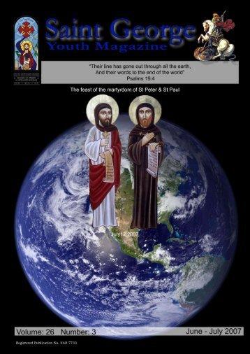 June-July 2007 - Saint George Coptic Orthodox Church, Sydney ...