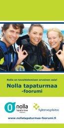 Nolla tapaturmaa -foorumin esite (pdf) - Työterveyslaitos