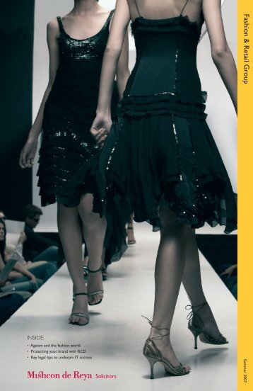 Fashion & Retail Newsletter: Summer 2007 - Mishcon de Reya